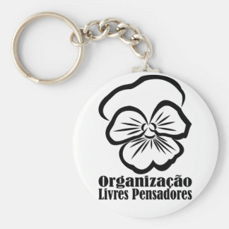 Chaveiro with soon and name below basic round button key ring
