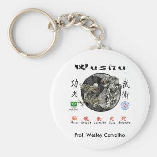 Chaveiro Wushu Basic Round Button Key Ring