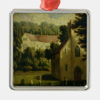 Chawton House and Church, 1809 Christmas Ornament