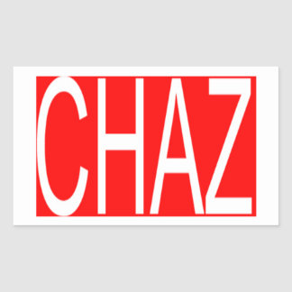 Chaz Sticker