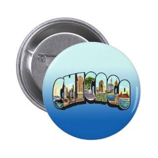 Chcago 6 Cm Round Badge