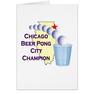 Chciago Beer Pong Champion Card