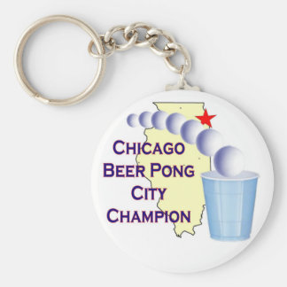 Chciago Beer Pong Champion Keychains