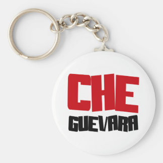Che Guevara Design Basic Round Button Key Ring