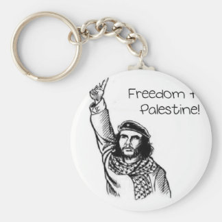 Che Guevara , Freedom for Palestine! Basic Round Button Key Ring