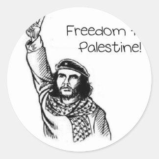 Che Guevara , Freedom for Palestine! Classic Round Sticker