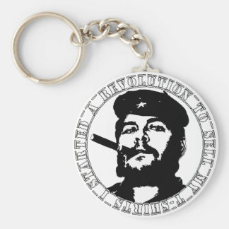Che guevara t-shirt basic round button key ring