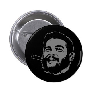 Che Guevara with Cigar Portrait Button