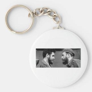 Che-y-Fidel Basic Round Button Key Ring