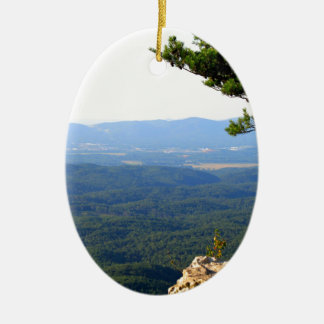 CHEAHA STATE PARK - ALABAMA'S HIGHEST POINT CERAMIC OVAL DECORATION