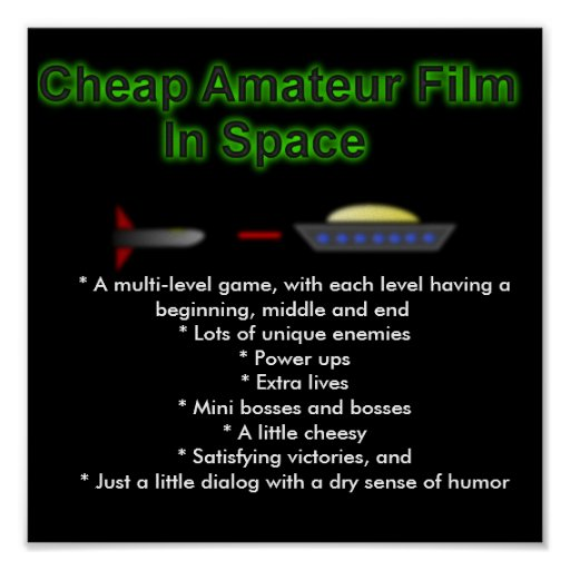 Cheap Amateur Film in Space poster 1