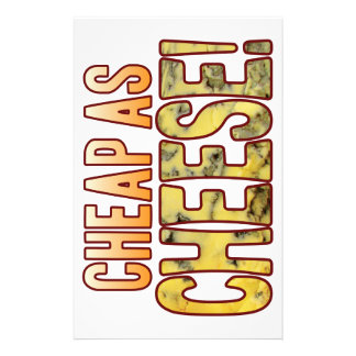 Cheap As Blue Cheese Stationery Paper