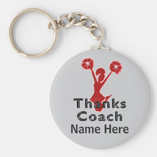 Cheap Cheer Coach Gifts PERSONALIZED Key Ring