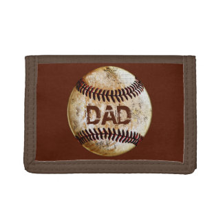 Cheap Cool Vintage Rustic Baseball Gifts for Him Trifold Wallet