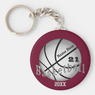 Cheap Custom Basketball Senior Night Gift Ideas Basic Round Button Key Ring