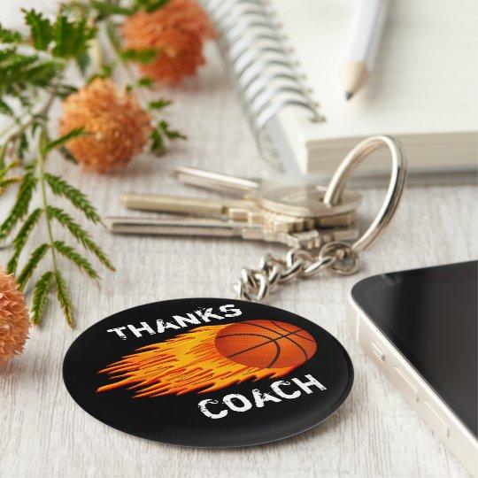 Cheap Customisable Coach Gift Ideas Basketball Basic Round Button Key Ring