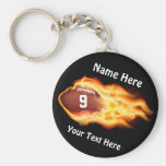 Cheap Football Gifts for TEAM with NUMBER, NAME Basic Round Button Key Ring