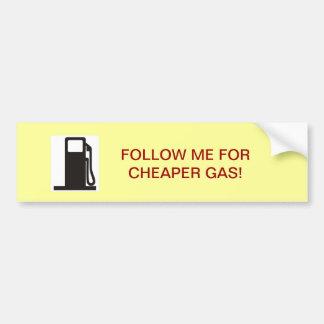 Cheap Gas Car Bumper Sticker