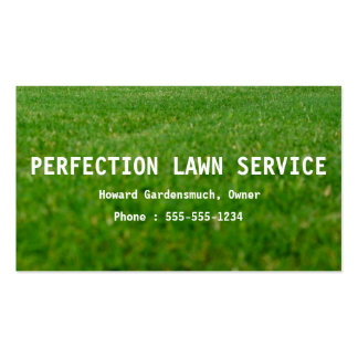 Cheap Lawn Cutting Service Business Cards