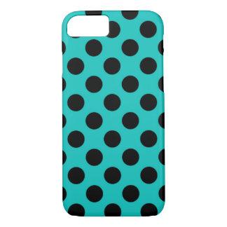 Cheap New Large Blue & Black Polka Dot Pattern iPhone 7 Case