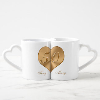 Cheap Personalised 50th Anniversary Gifts Mug Set