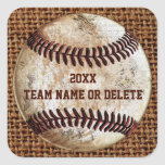 Cheap Personalised Rustic Team Baseball Stickers
