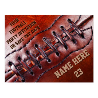 Cheap Personalized Football Invitations YOUR TEXT Postcard