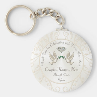 Cheap Personalized Wedding Gifts for Guests, BULK Key Ring