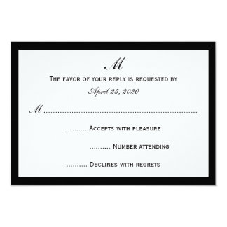 Cheap RSVP Invitation Cards Choose Border on White