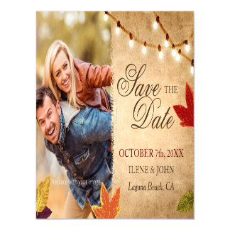 Cheap Save the Date Magnets | Rustic Wedding Ideas Magnetic Invitations