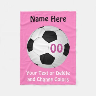 Cheap Soccer Blanket with YOUR COLORS and TEXT