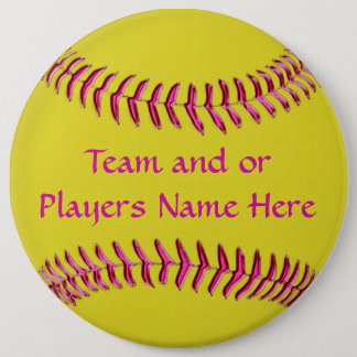 Cheap Softball Gifts for Girls TEAM and or NAME 6 Cm Round Badge
