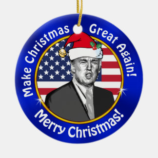 Cheap Trump Make Christmas Great Again Ornament