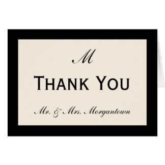Cheap Wedding Thank You Cards Your Color Border