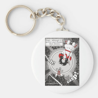 Cheaper & Quicker Than Divorce Basic Round Button Key Ring