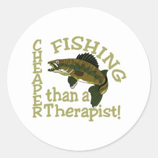 Cheaper Than A Therapist Round Sticker