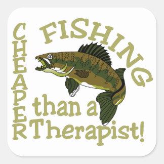 Cheaper Than A Therapist Square Sticker