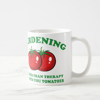 Cheaper Than Therapy And Gets You Tomatoes Basic White Mug