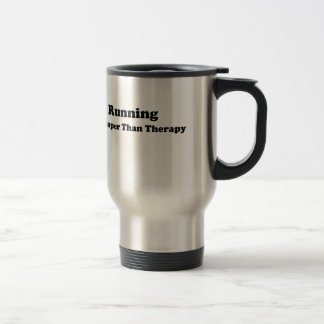 Cheaper than therapy black stainless steel travel mug