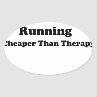 Cheaper than therapy black stickers