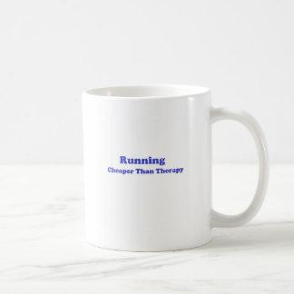 Cheaper than therapy blue basic white mug