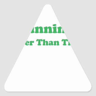 Cheaper than therapy green triangle sticker