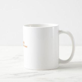 Cheaper than therapy orange basic white mug
