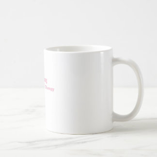 Cheaper than therapy pink classic white coffee mug
