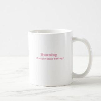 Cheaper than therapy pink basic white mug