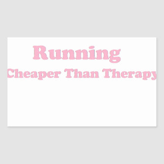 Cheaper than therapy pink rectangular sticker