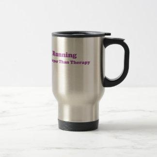 Cheaper than therapy purple mug