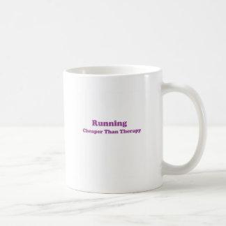 Cheaper than therapy purple basic white mug
