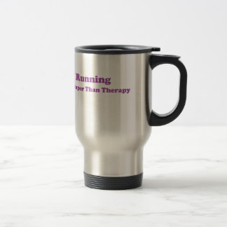 Cheaper than therapy purple stainless steel travel mug