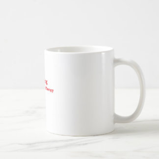 Cheaper than therapy red basic white mug